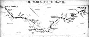 Route of Coo-ee Recruitment March (Daily Telegraph, 16 Oct. 1915)