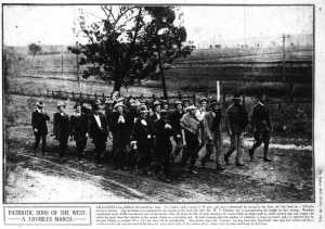 Coo-ees on the road to Balladoran (Sydney Mail 20/10/1915)
