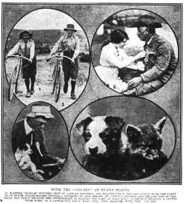 With the Coo-ees at Evans Plains (Daily Telegraph 30/10/1915)