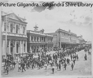Arriving in Orange (Photograph courtesy of Gilgandra Shire Library)