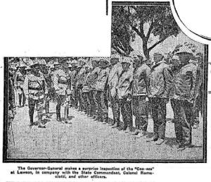 Governor-General inspects the Coo-ees at Lawson (Mirror of Australia 13/11/1915)