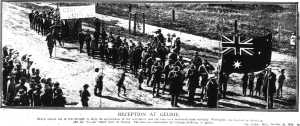 Reception at Geurie (Sydney Mail 20 Oct 1915)
