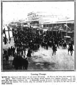 Leaving Orange (Sydney Mail 3/11/1915)