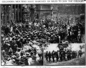 The start and the finish (Sydney Morning Herald 13/11/1915)