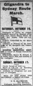 Program of events at Wellington (Wellington Times 14/10/1915)