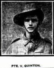 Private Victor Quinton (Sunday Times, 8/10/1916)