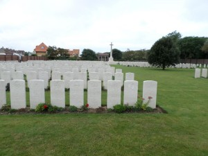 Les Baraques Military Cemetery (Photograph: S & H Thompson 28/8/2014)