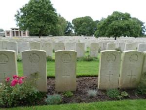 Lijssenthoek Military Cemetery, Belgium (Photograph: S & H Thompson 28/8/2014)