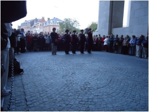 Last Post being played at the 8 pm service at the Menin Gate Memorial (Photograph: H. Thompson 11/8/2012)