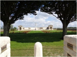 V.C. Corner Cemetery and Memorial (Photograph: H. Thompson 1/9/2014)