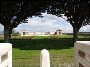 V.C. Corner Cemetery and Memorial (Photograph: H. Thompson 1/9/2014)