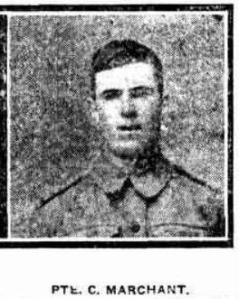 Private Charles Marchant (Sunday Times, 8/10/1916)