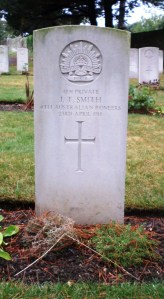 John Thomas Smith's headstone at Melcombe Regis Cemetery, Weymouth, England (Photograph: H. Thompson 25/8/2014)