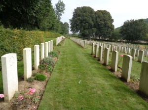 Contay British Cemetery, France (Photograph: H. Thompson 4/9/2014)