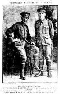 Photo of William Emerton Hunters 2 brothers killed at Gallipoli (Sydney Morning Herald 1/11/1915)