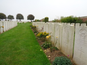 Puchevillers British Cemetery, Puchevillers, Somme, France (Photograph: S & H Thompson 5/9/2014)