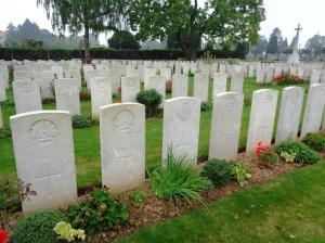 Peronne Communal Cemetery Extension, Peronne, France (Photograph: S. & H> Thompson, 6/9/2014)