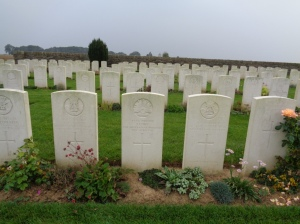 Vaulx Hill Cemetery, France (Photograph: S & H Thompson, 6/9/2014)
