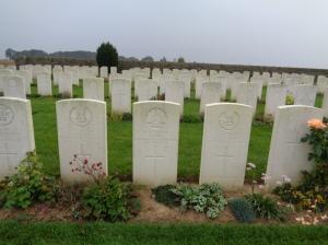 Vaulx Hill Cemetery, France (Photograph: S & H Thompson, 6/9/2014)