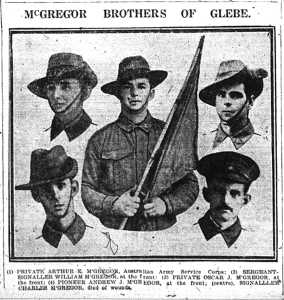 The McGregor brothers - 2 were Coo-ees (Daily Telegraph, 22/9/1916)