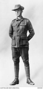 Private O. J. Harmon, ca. 1916 (Photograph: Australian War Memorial)