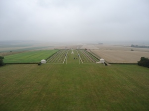 Looking from the Tower to the Main Entrance at Villers-Bretonneux Memorial (Photograph: S. &. H. Thompson 5/9/2012)