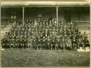 The Coo-ees at Wade Park, Orange, October 1915. Photograph courtesy of Macquarie Regional Library