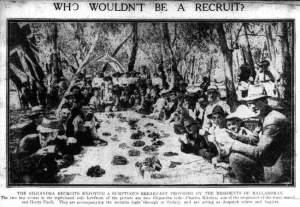 Coo-ees having breakfast at Balladoran 11/11/1915