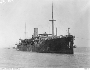 HMAT Ballarat A70, 18/2/1916. Photograph from the AWM Collection PB0182.