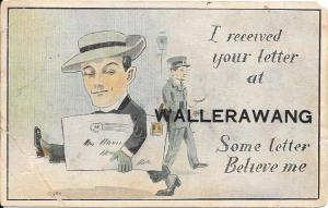 Postcard sent by W. H. Saunders, courtesy of Mrs K. Edmonds
