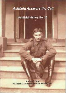 Ashfield History No 20, published by Ashfield & District Historical Society Inc., November 2015.