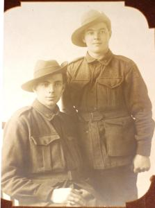 Walter Goodlet (left) and James Birrell Dawson (right), both amputees. Photograph courtesy of James Dawson's great granddaughter Jamie Stacey.