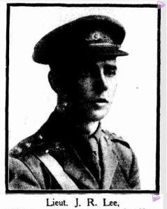 Lieutenant J. R. Lee (Sydney Mail, 3/3/1920)