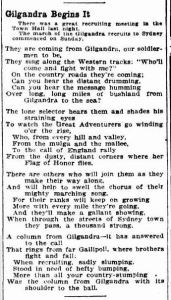 ''Gilgandra Begins It' (The Sun, 12/10/1915