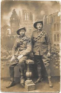 William Hilton Saunders and WIlliam Collyer, 1916 (Photograph courtesy of Mrs K. Edmonds)