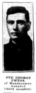 Pte. George Ewens, of Mandurama (Evening News, 20/9/1917)